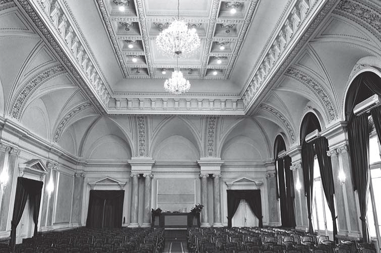 Ceremonial hall (photo: S. Negovanovic, collaborator of the Institute)