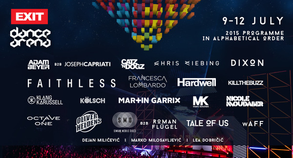 EXIT Dance Arena Phase 3 Line Up – Martin Garrix, Dixon, Tale Of Us, MK, Simian Mobile and many more