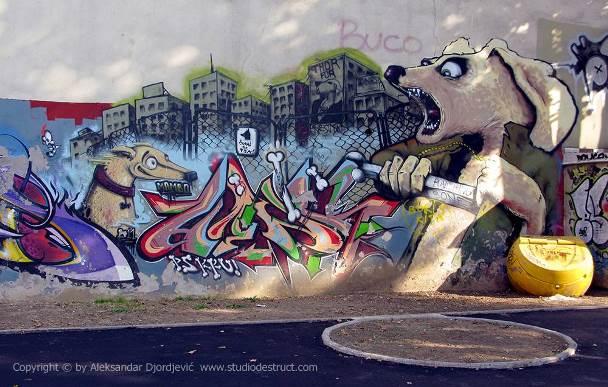 Beograd grafiti RAGE 045 EDIT