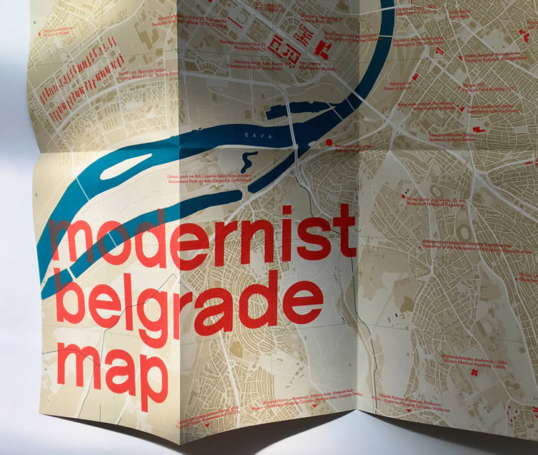 Introducing Modernist Belgrade Map
