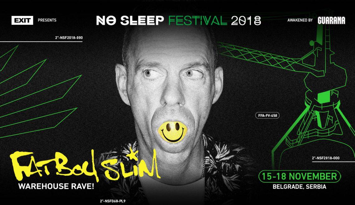 Fatboy Slim Announces an Exclusive Warehouse Rave at No Sleep Festival in Belgrade!