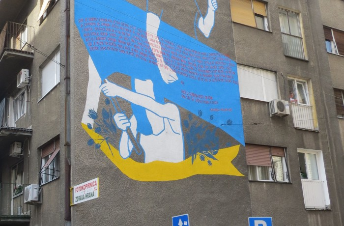 Of the mural 'Fight, knowledge, equality'